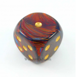 CHXDC5009 Scarab Blue Blood D6 With Gold Pips 50MM Chessex