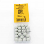 WONGM028 Battleship Gray Marbels 14mm Glass Marbles Pack of 20