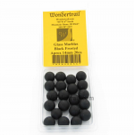 WONGM036 Charcoal Frosted Marbels 14mm Glass Marbles Pack of 20