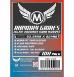 MDG7128 Police Precinct Sleeves 63.5mm x 92mm (100) Mayday Games