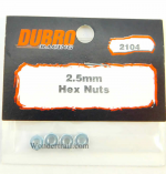 DUB2104 2.5mm Hex Nuts by Dubro