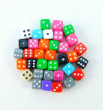 KOP10795 Assorted Colors Dice 5mm (13/64in) Six Sided (d6) 30ea