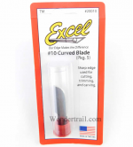 EXL20010 Number 10 Sharp Curved Hobby Blades by Excel