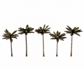 WOO3598 Palm Trees 4.75 To 5.25 Inches Pack Of 5 Woodland Scenics