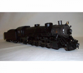 BAC81601 USRA 4-8-2 HO Scale Mountain Locomotive with Tender Painted Unlettered