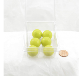 WONGM202 Yellow Opaque 22mm Glass Marbles Pack of 6