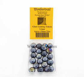 WON0094 Grape Gaming Counter Tokens Aprox 15mm Pack of 22