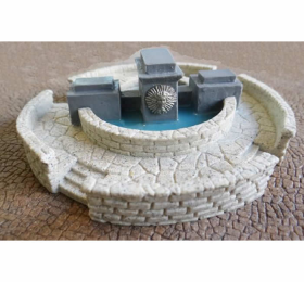 Nds1115 Modern Finished Fountain Wwii 15mm Scale