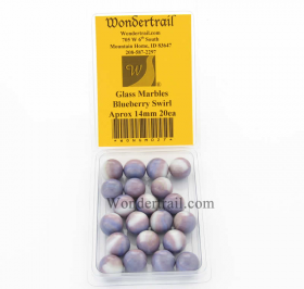 WONGM027 Blueberry Swirl Marbels 14mm Glass Marbles Pack of 20