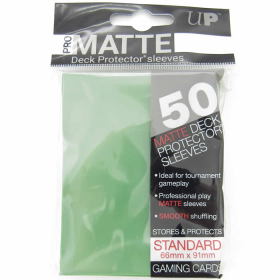 UPR82652 Pro-Matte Green Card Sleeves 50 Count Ultra Pro