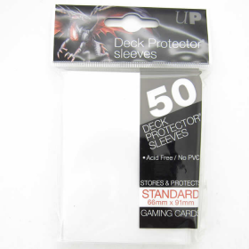 UPR82668 White Standard Card Sleeves 50 Count Ultra Pro