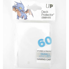 UPR82963 White Small Card Sleeves 60 Count Ultra Pro