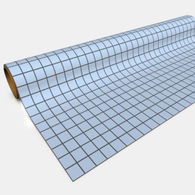 GGP0201 Blue Gaming Paper 1in Squares 30in x 12ft 1 Roll