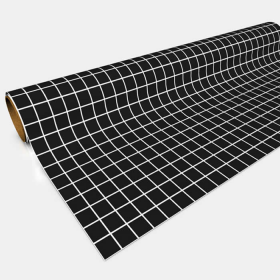 GGP0301 Black Gaming Paper 1in Squares 30in x 12ft 1 Roll