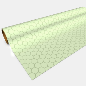 GGP0802 Green Gaming Paper 1in Hexes 30in x 12ft 1 Roll
