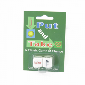 KOP17964 Put and Take Dice Game D6 16mm (5/8in) Pack of 2 Dice