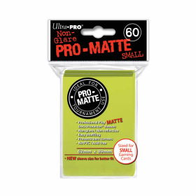 UPR84150 Bright Yellow Pro-Matte Small Card Sleeves 60 Count