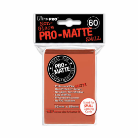 UPR84154 Peach Pro-Matte Small Card Sleeves 60 Count Ultra Pro