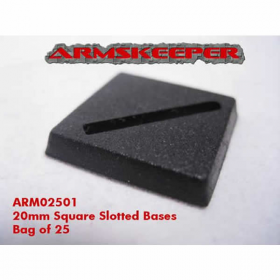 ARM02501 Square Slotted 20mm Miniature Bases Pack of 25