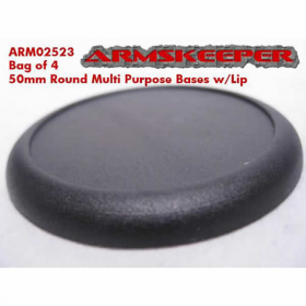 ARM02523 Round Multi Purpose 50mm Bases w/Lip (4) ArmsKeeper