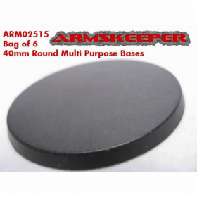 ARM02515 Round 40mm Multi Purpose Bases (6) ArmsKeeper