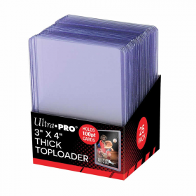 UPR81846 Super Thick Top Loader Clear Boardered Hard Sleeves