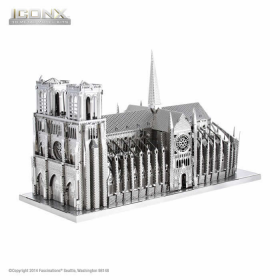 FASICX003 Notre-Dame Cathedral 3D Metal Model Kit Iconic Series Fascinations