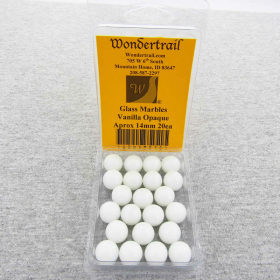 WONGM016 Vanilla 14mm Glass Marbles Pack of 20