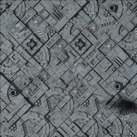 GF9BM007 Space Station Moon 36in x 36in Game Mat Gale Force Nine