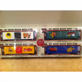 LIF8673 Proto 1000 HO Collectable Car 4 Pack Annie Dick Tracy Limited Edition Series 7