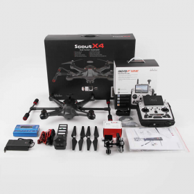 HUBWLKSCOUTX4FPV2 Scout X4 Carbon Edition RTF Drone with Groundstation Walkera
