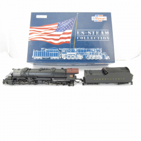 BACROC63355 2-8-8-2 HO Scale PRR Steam Engine and Tender Roco Trains