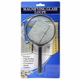 WONDS015 Black Plastic Hand Held Magnifying Glass Wondertrail