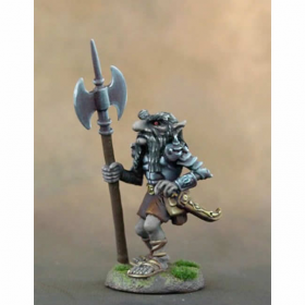 Dsm4643 Dark Dwarf Warrior With Axe Miniature Diterlizzi Masterworks