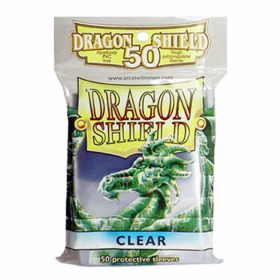 FFGDSH25 Clear Dragon Shield 50 Count Standard Sleeves