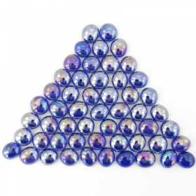 Wcx01176 Crystal Dark Blue Iridized Glass Stones 40 Or More