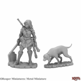 RPR03970 Duskwarden and Hound Miniature 25mm Heroic Scale Dark Heaven Legends Reaper Miniatures