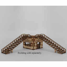 LCW1385 Scaffolding Stairs 28mm Pack of 2 Laser Craft