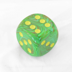 CHXDV5035 Slime Vortex Die with Yellow Pips D6 50mm (1.97in) Pack of 1