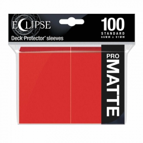 UPR15616 Eclipse Apple Red Matte Standard Sleeves 100 Count Pack Ultra Pro