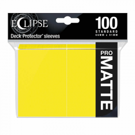 UPR15620 Eclipse Lemon Yellow Matte Standard Sleeves 100 Count Pack Ultra Pro