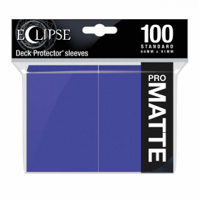 UPR15622 Eclipse Royal Purple Matte Standard Sleeves 100 Count Pack Ultra Pro