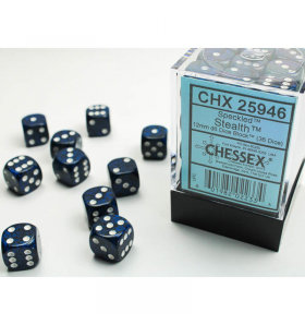 CHX25946 Stealth Speckled 12mm d6 (36) by Chessex Dice